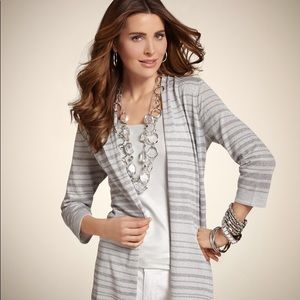 NWT Chico's Luster Cardigan Sweater in Silver